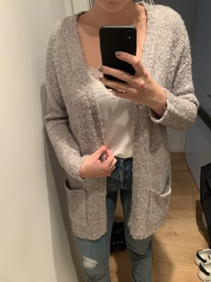 Jacqueline de Yong Cárdigan de ganchillo gris claro-gris