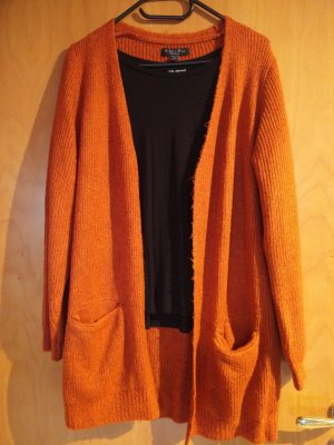 Cardigan orange dick Strick Winter