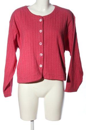 Cardigan pink Streifenmuster Casual-Look