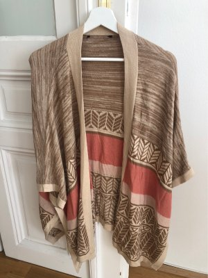 Mango Knitted Poncho multicolored