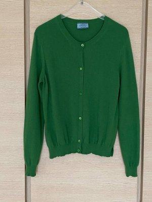 Prada Wełniany sweter leśna zieleń