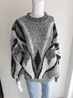 Vintage Sweter oversize Wielokolorowy