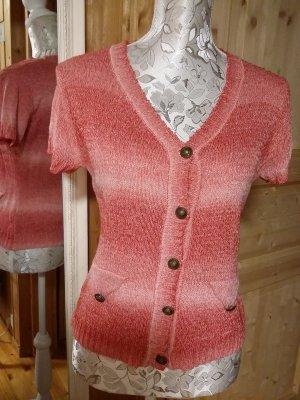 Cardigan Pullover V-Ausschnitt, kurzarm
