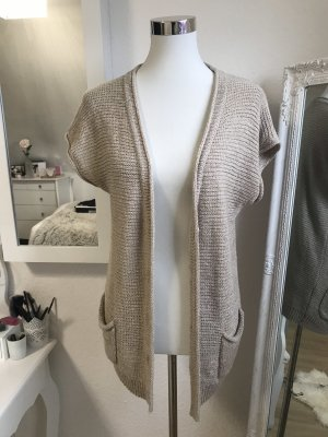 Short Sleeve Knitted Jacket beige