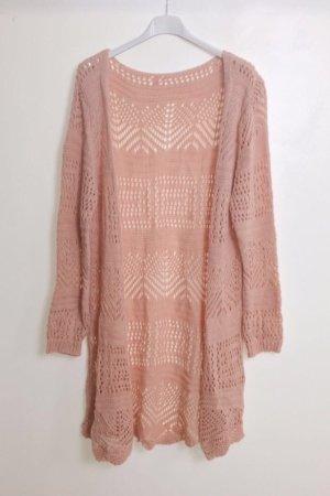 Crochet Cardigan dusky pink