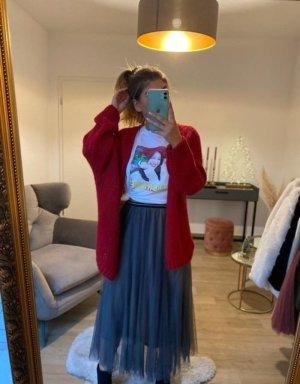 Boutique Comtesse Kardigana z dzianiny czerwony neonowy