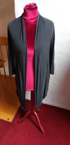 Cardigan schwarz grau gestreift