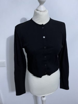 Cardigan schwarz langarm strickjacke