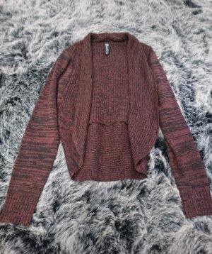 cardigan schwarz rot