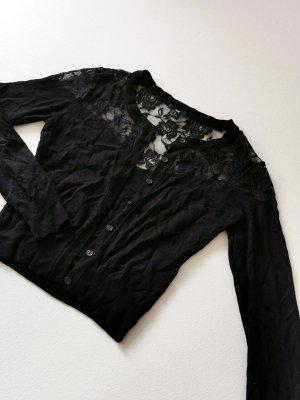 H&M Crochet Cardigan black