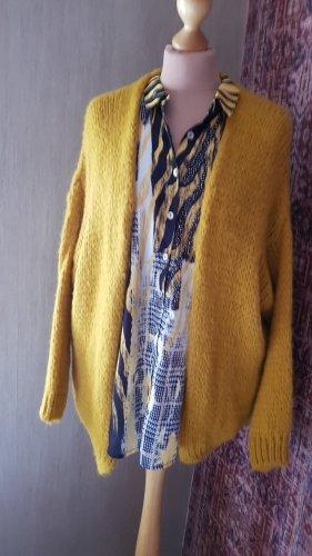 Cardigan senfgelb Strickjacke Jäckchen Onesize (40/42) Knit