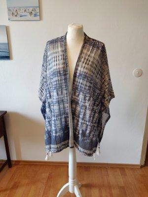 Bershka Cardigan en crochet bleu azur