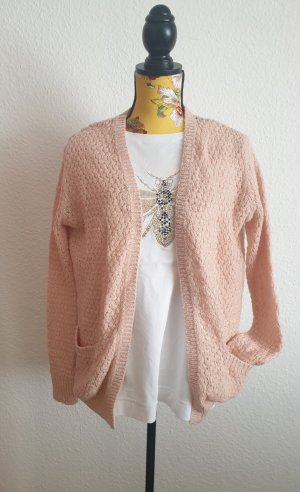 Amisu Gehaakte cardigan stoffig roze-rosé