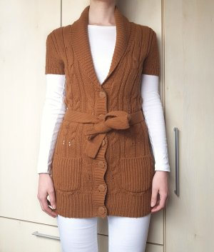 Tally Weijl Coarse Knitted Jacket cognac-coloured-brown polyacrylic