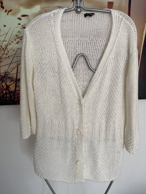 Gerry Weber Cardigan en crochet blanc cassé-blanc