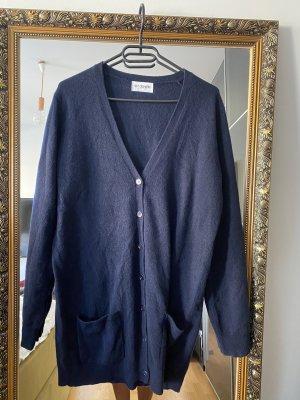 Cardigan Strickjacke Kaschmir blau 42 XL