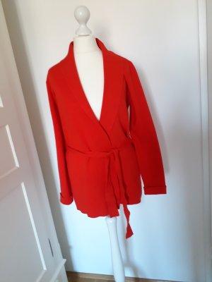 Cardigan/Strickjacke Orsay Gr. S rot mit Bindegürtel