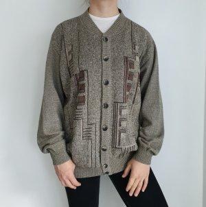 Cardigan Strickjacke Oversize Pullover Hoodie Pulli Sweater grau grün True Vintage