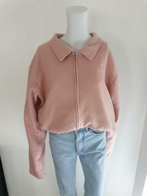 Cardigan Strickjacke Pullover Hoodie oversize sweater Pulli L Rosa True Vintage Bluse Jacke Hemd