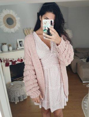Cardigan Strickjacke rosa blogger hipster boho Volants Rüschen