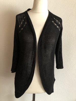 Cardigan Strickjacke schwarz Basic oversized Gr. 36