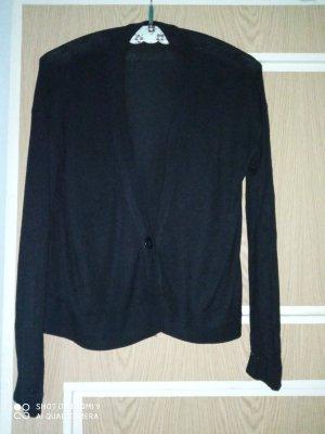 Cardigan Strickjacke schwarz einzelner Knopf