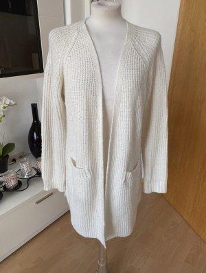 Gina Tricot Veste tricotée en grosses mailles blanc cassé