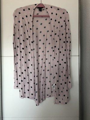 Cardigan von H&M in rosa mit Punkten Größe 34