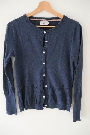 Noa Noa Knitted Vest slate-gray cotton