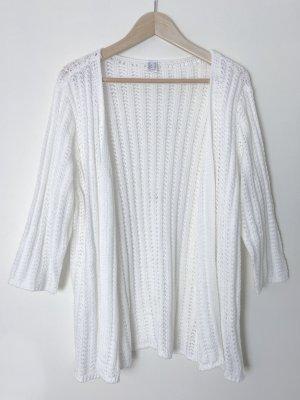 Otto Cardigan en crochet blanc acrylique