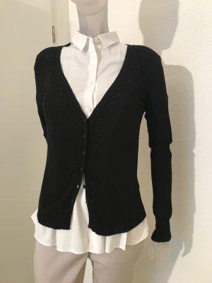 Cardigan von Twin Set mit Perlen in schwarz
