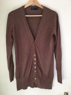 Zara Knitted Vest light brown-brown mixture fibre