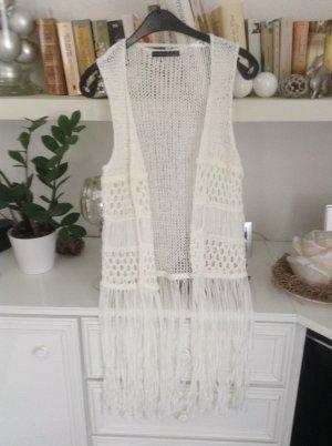 Atmosphere Cardigan en crochet blanc