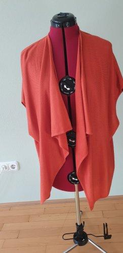 Cardigan weit orange