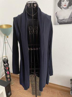 Zara Cappotto a maglia blu scuro