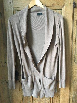 Tschibo Cache-cœur en tricot gris brun-beige