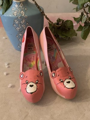 Care bear pumps Rosa pink rot 40 iron fist Leder neu da zu klein! Plateau Pump NP 160,-