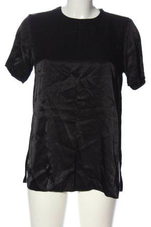 CARE LABEL Blouse met korte mouwen zwart casual uitstraling