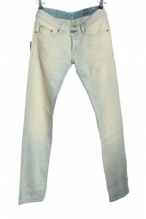 CARE LABEL Tube jeans wit-blauw casual uitstraling