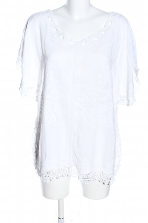 Care of You Kurzarm-Bluse weiß Casual-Look