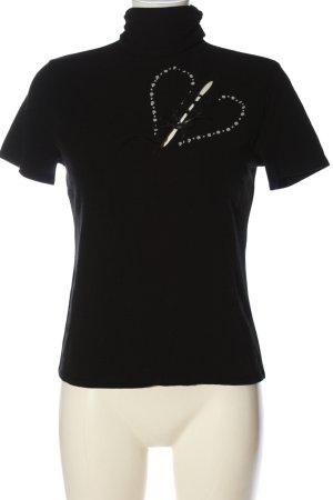 Carell Thomas Short Sleeve Sweater black themed print elegant