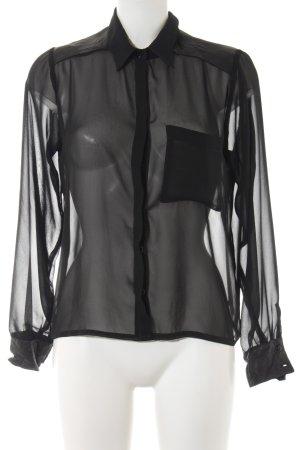 Carell Thomas Transparent Blouse black elegant