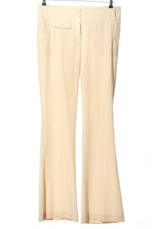 Caren Pfleger Spodnie z zakładkami kremowy W stylu biznesowym