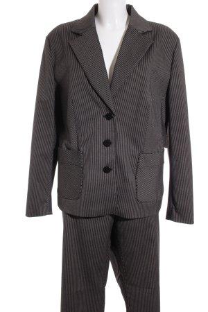 Caren Pfleger Kostüm schwarz-grau Streifenmuster Business-Look
