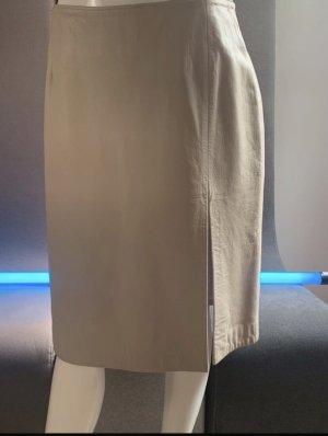 Caren Pfleger Jupe en cuir blanc cassé