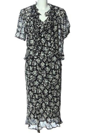 Caren Pfleger Twin set in maglia nero-bianco stampa integrale