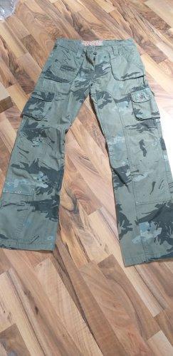 Fishbone Spodnie khaki oliwkowy-khaki