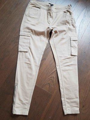 H&M Basic Pantalone cargo beige