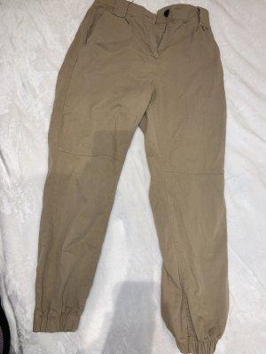 Bershka Cargo Pants beige