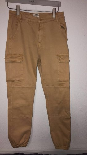 H&M DENIM Pantalon cargo beige
